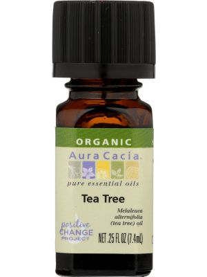 AURA CACIA Organic Tea Tree Essential Oil