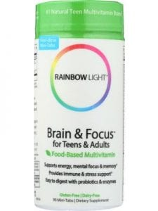Multivitamins Rainbow Light Brain & Focus for Teens and Adults