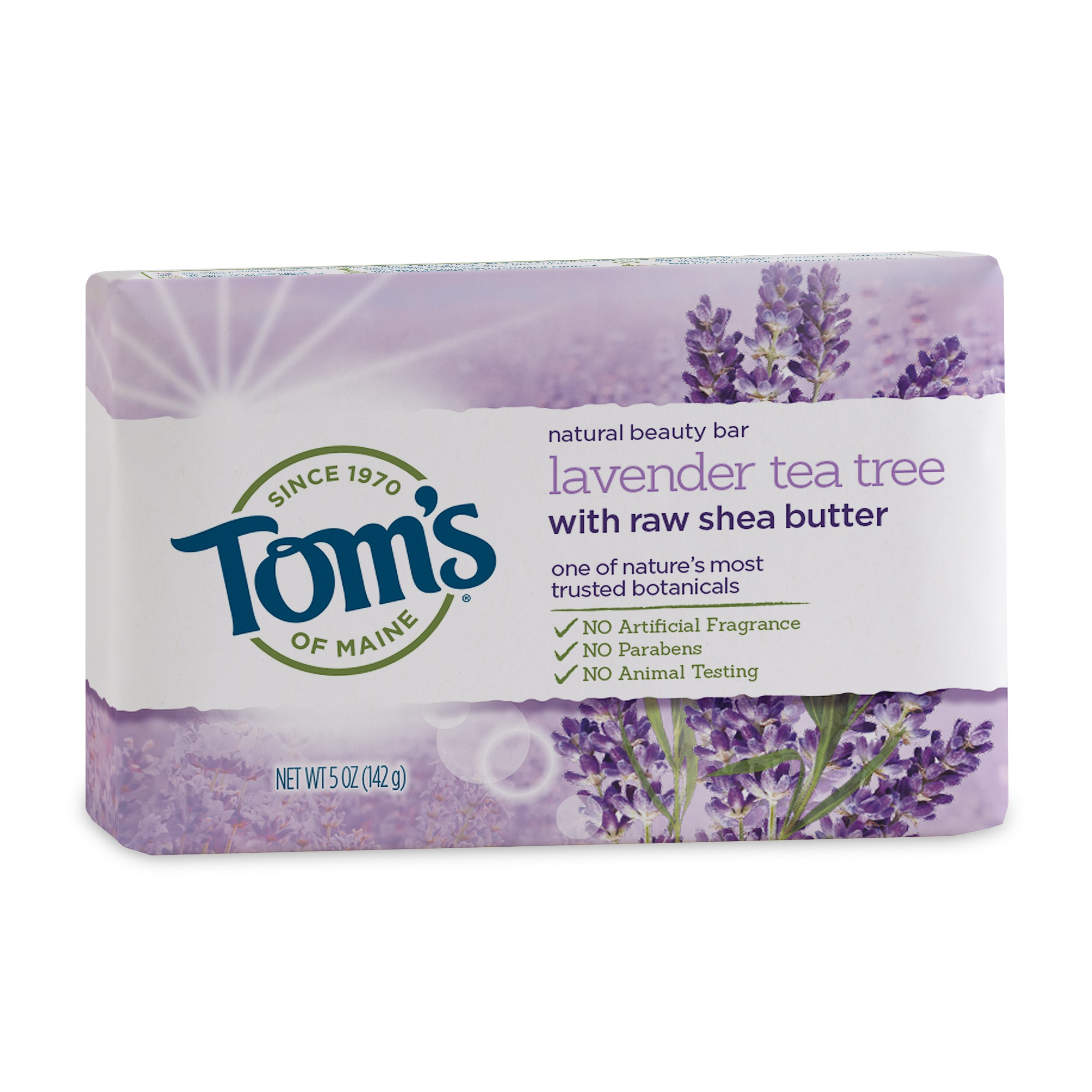 Bar of organic soap with lavender
