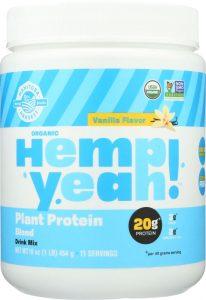 Plant-based protein powder from hemp
