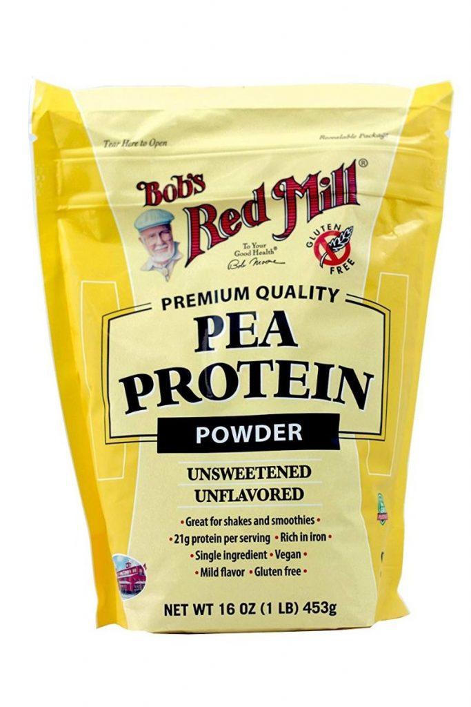 Bag of bulk pea protein powder