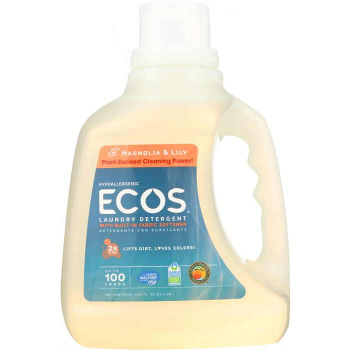 EARTH FRIENDLY Ecos 2x Ultra Liquid Laundry Detergent Magnolia and Lily