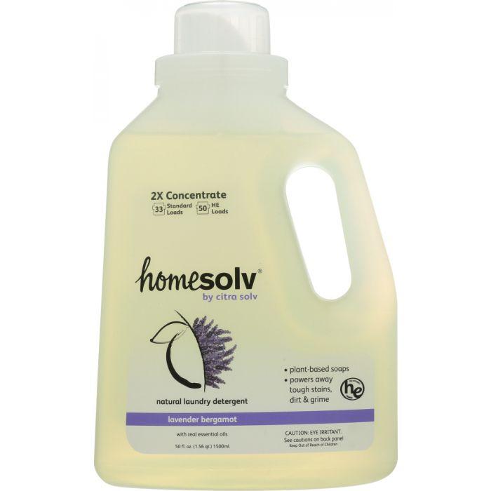 HOME SOLV Natural Laundry Detergent 2X Concentrate Liquid Lavender Bergamot