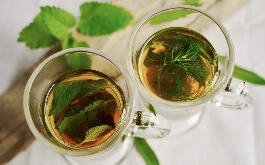 Mint and sage leaves