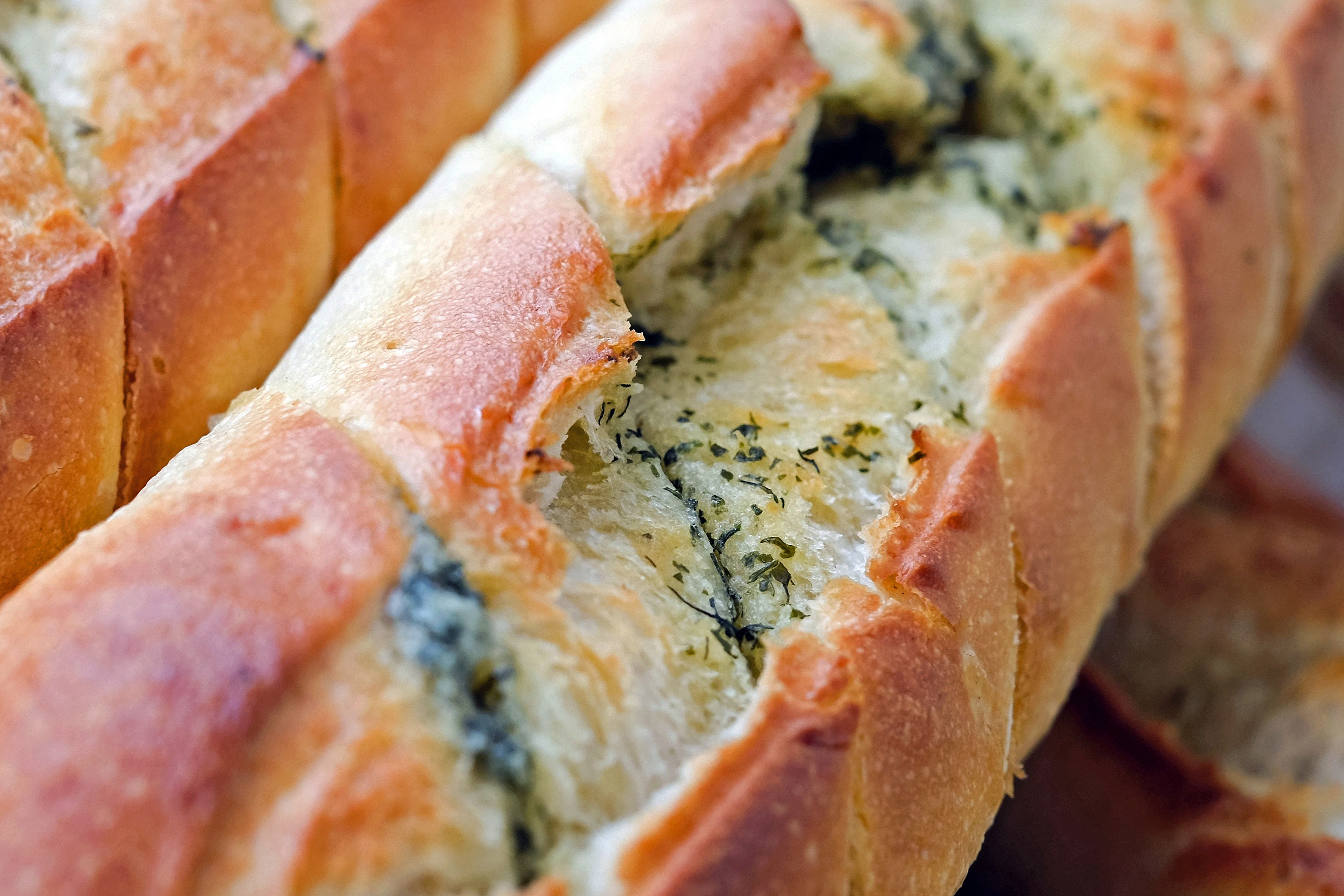 Baguette with herbs