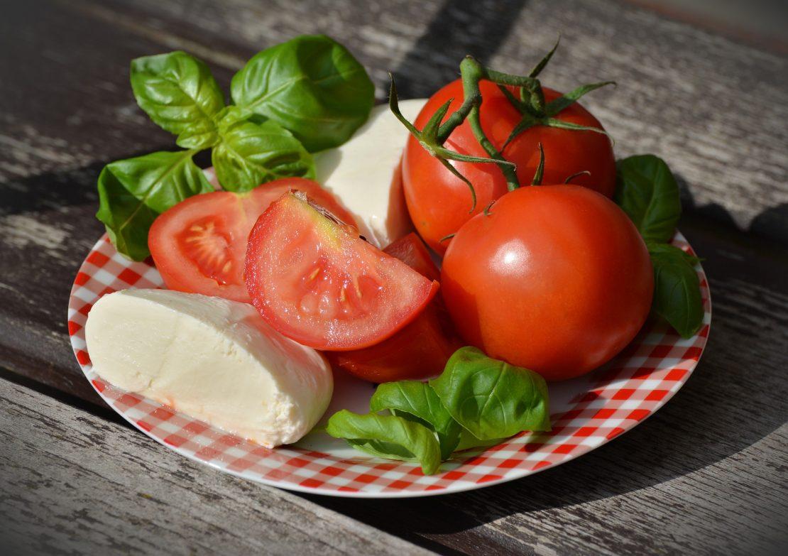 Basil and caprese salad
