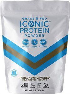 Bag of grass fed whey protein powder