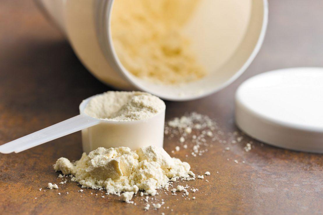Bottle of wholesale whey protein powder