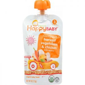 HAPPY BABY Organic Baby Food Stage 3 Harvest Vegetables & Chicken with Quinoa