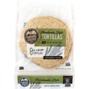 LA TORTILLA FACTORY Hand Made Corn Tortillas Green Chile