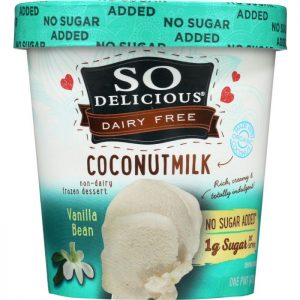 SO DELICIOUS Frozen Dessert No Sugar Added Vanilla Bean