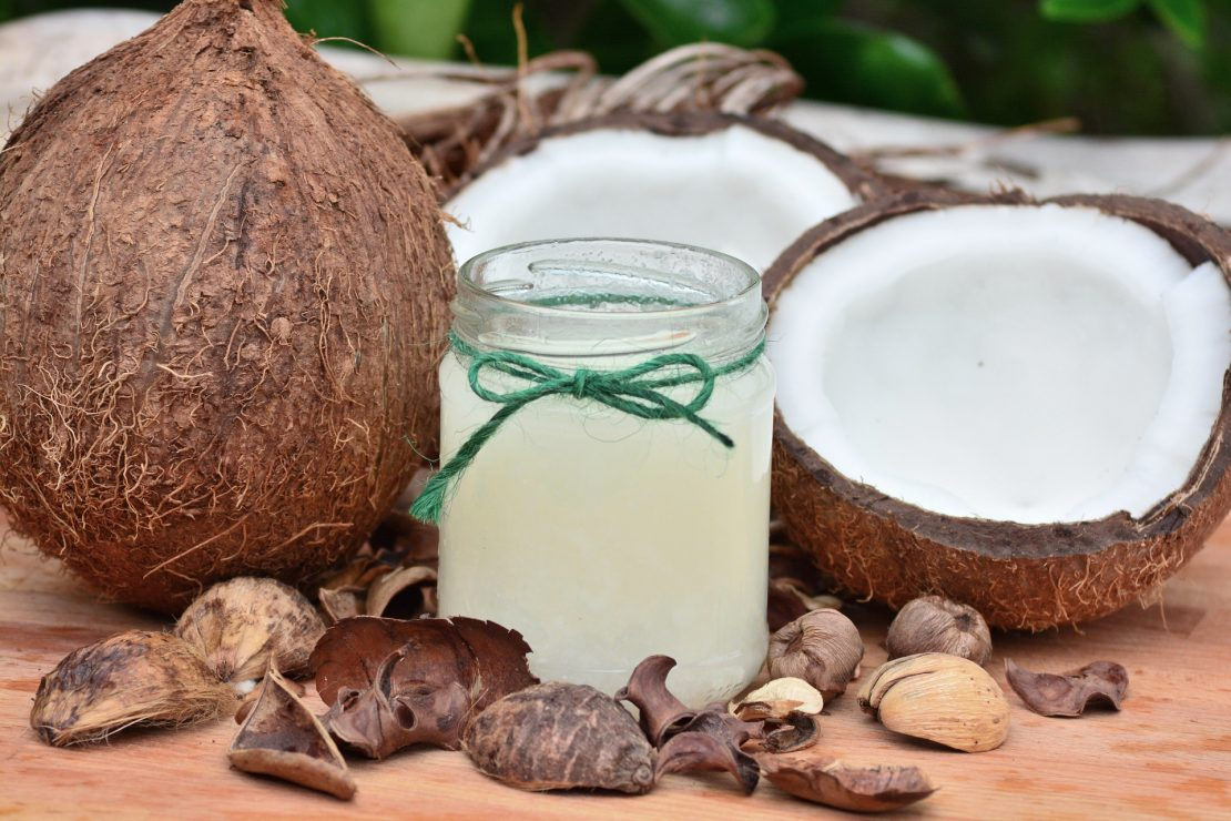 Coconut body oil is made up of healthy fatty acids