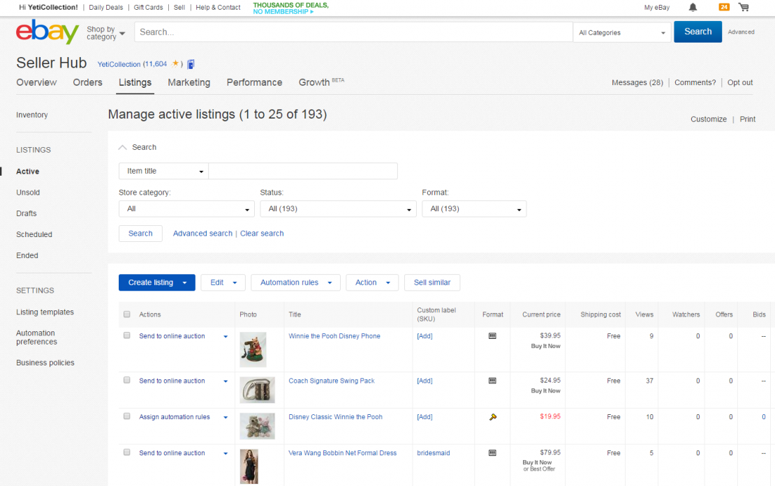 Create comprehensive and detailed descriptions in your product listings.