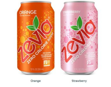 Two cans of Zevia Soda