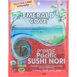 EMERALD COVE Organic Pacific Sushi Nori 10 Sheets