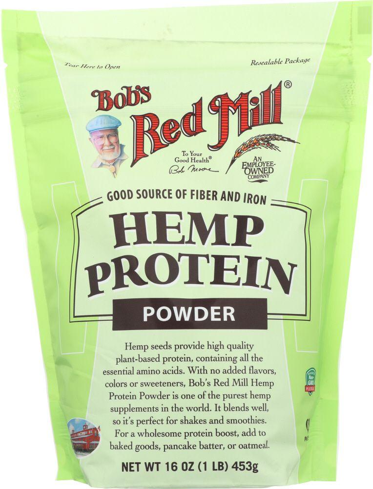 Unsweetened hemp protein powder