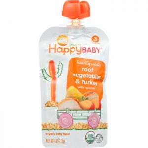 HAPPY BABY Organic Baby Food Stage 3 Root Vegetables & Turkey with Quinoa