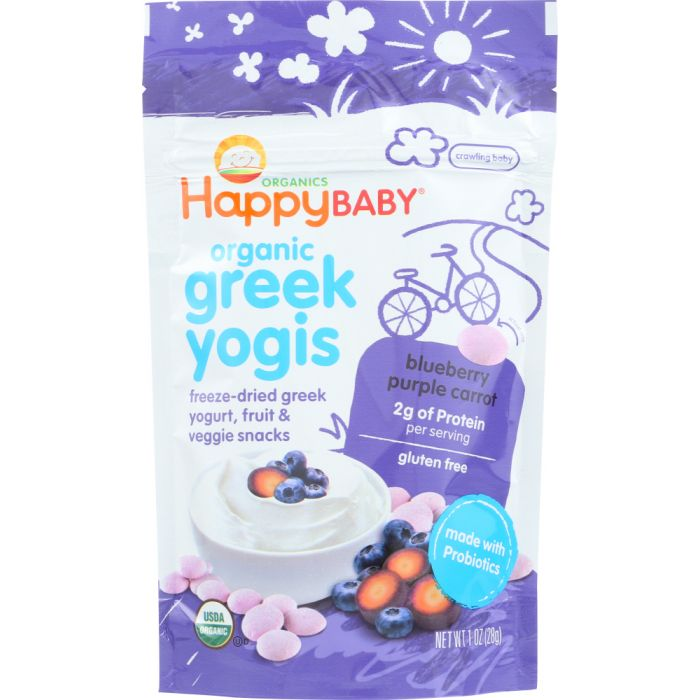 HAPPY BABY Yogis Blueberry Purple Carrot Greek Yogis