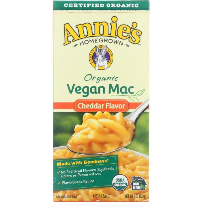 ANNIES HOMEGROWN Organic Vegan Mac Cheddar Flavor