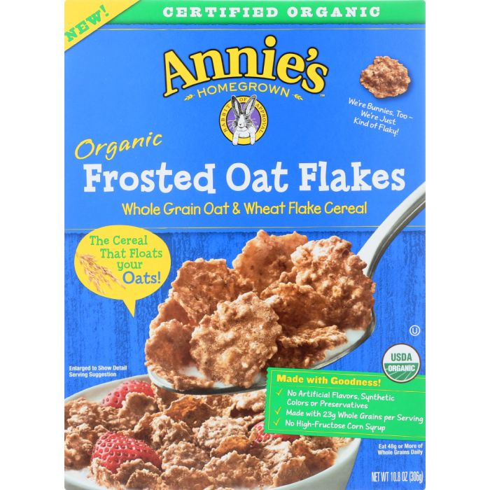 ANNIES HOMEGROWNOrganic Frosted Oat Flakes Cereal