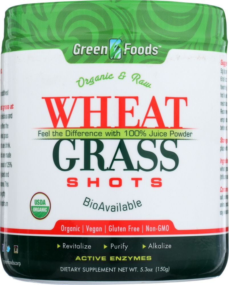 Wheat grass shots are an excellent addition to juices or smoothies