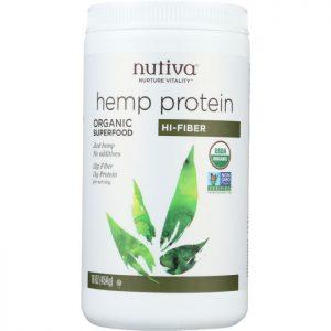NUTIVA Organic Superfood Hemp Protein Hi-Fiber