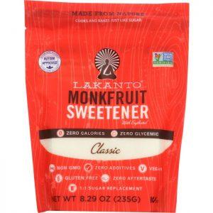 LAKANTO All Natural Sugar Substitute Sweetener Monkfruit Classic