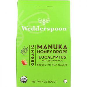 WEDDERSPOON Organic Manuka Honey Drops Eucalyptus Drops