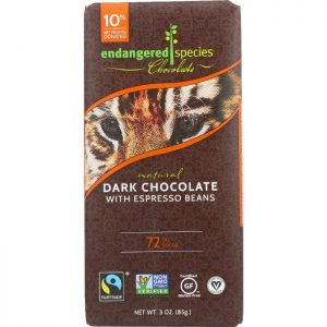 ENDANGERED SPECIES Natural Dark Chocolate Bar with Espresso Beans
