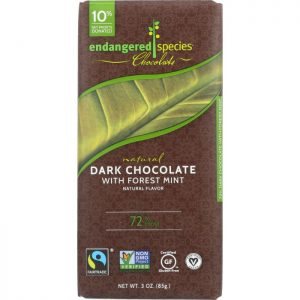 ENDANGERED SPECIES Natural Dark Chocolate Bar with Forest Mint