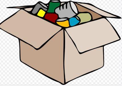 shipping box full of goods