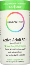 RAINBOW LIGHT: Just Once Active Adult 50+ Food-Based Multivitamin, 90 Tablets