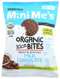 WOODSTOCK: Rice Bites Milk Chocolate Organic, 2.1 oz