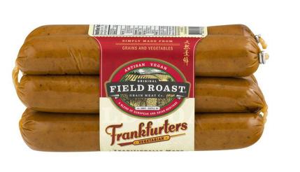 wholesale vegan food: Field Roast vegan frankfurters