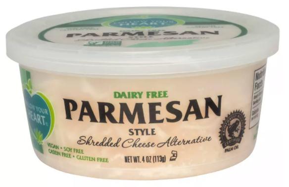wholesale vegan food: Follow Your Heart vegan parmesan cheese