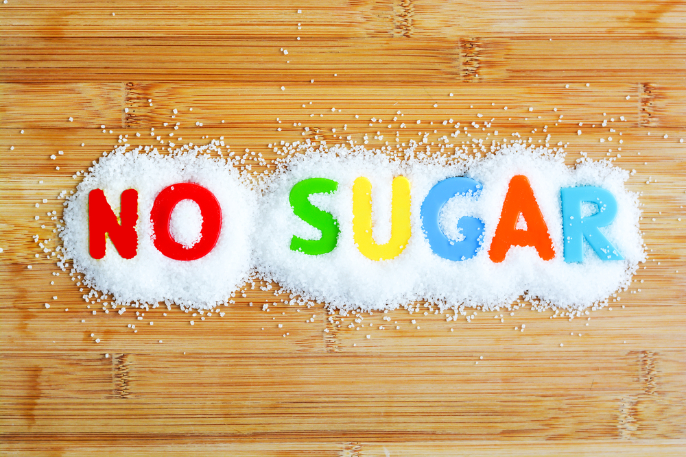 "Dropshipping trends: sugar on a table with the word ""no"" to signal a low sugar diet"