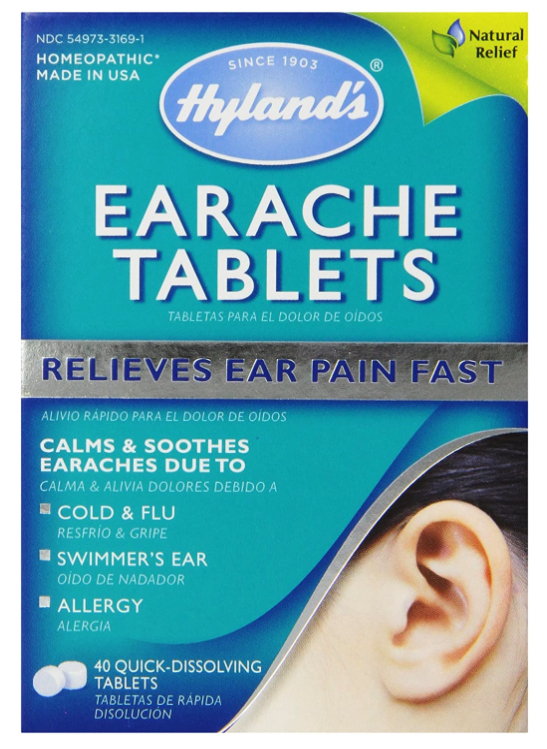 How to sell homeopathic medicine online: Hyland's earache tablets