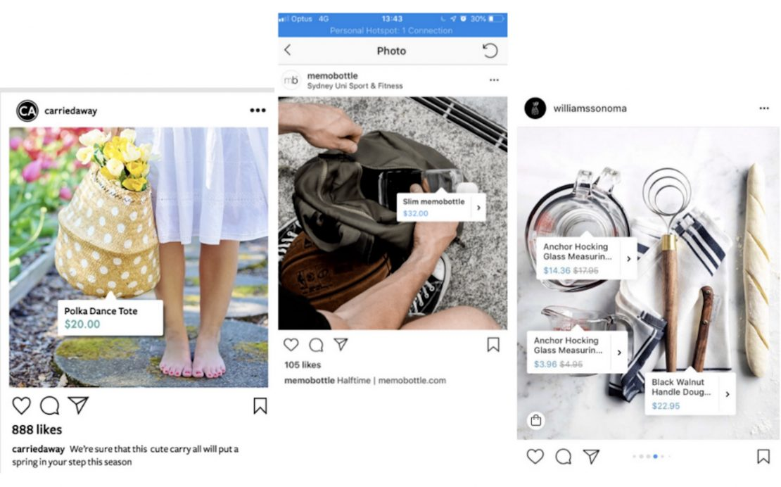 Instagram ads for dropshipping shoppable posts
