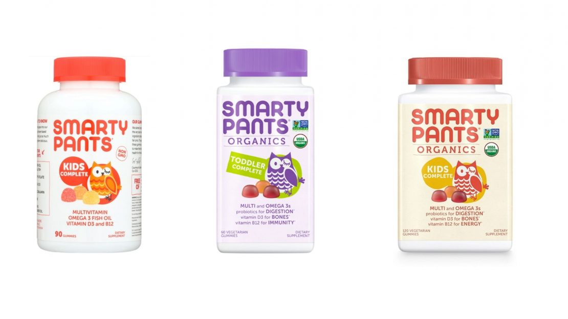 Dropship vitamins. A selection of SmartyPants multivitamins for kids.
