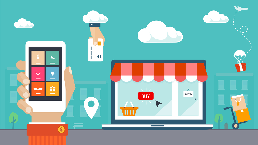 graphic depicting ecommerce business