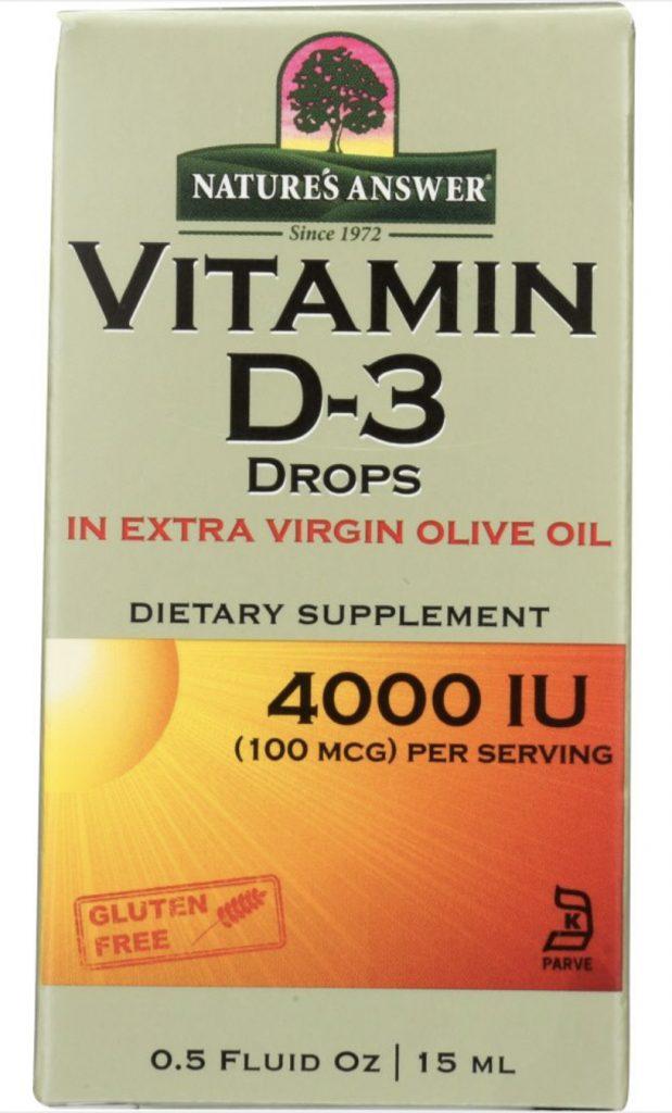 Dropship vitamins. Nature's Answer Vitamin D3 drops.