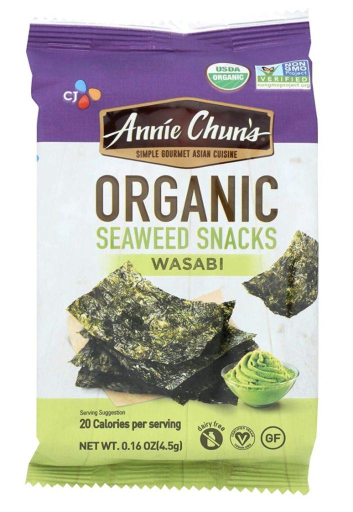Annie Chun's seaweed wasabi snacks