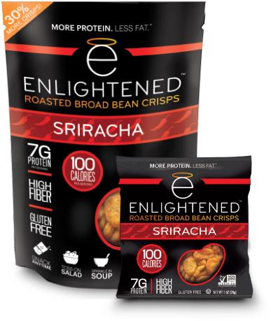 Enlightened bean crisps sriracha flavor
