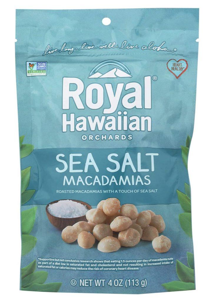 Royal Hawaiian sea salt macadamias