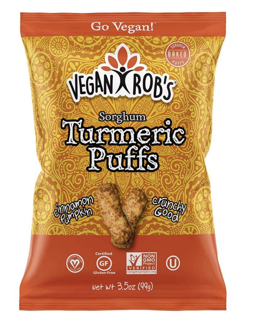 Vegan Rob's turmeric puffs