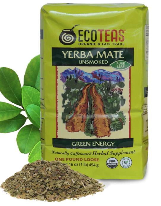 Eco Teas: Yerba Mate Pure Leaf Loose Tea Green Energy Unsmoked