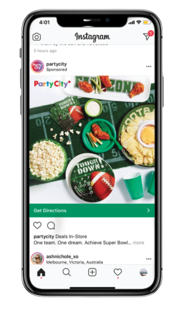 Instagram video ad displayed on a smartphone