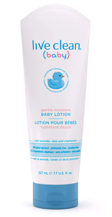 Wholesale baby items. Live Clean baby moisturizing lotion