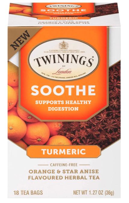Twining Tea: Soothe Orange & Star Anise Herbal Tea with Turmeric