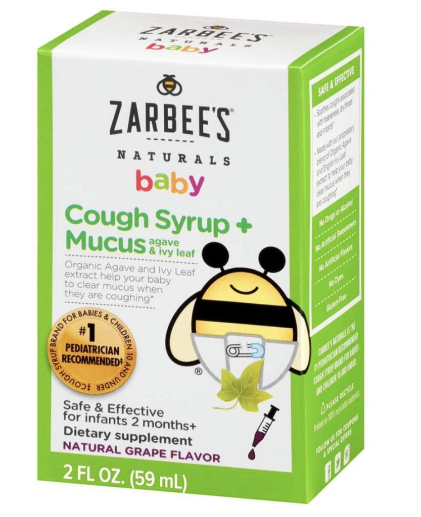 Zarabees baby cough syryup and mucus relief